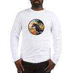 Garden/Arabian horse (blk) Long Sleeve T-Shirt