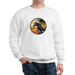 Garden/Arabian horse (blk) Sweatshirt