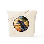 Garden/Arabian horse (blk) Tote Bag