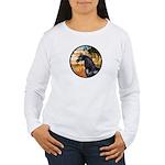 Garden/Arabian horse (blk) Women's Long Sleeve T-S