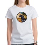 Garden/Arabian horse (blk) Women's T-Shirt