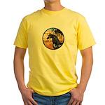 Garden/Arabian horse (blk) Yellow T-Shirt