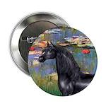 Lilies/Arabian horse (blk) 2.25