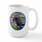 Lilies/Arabian horse (blk) Large Mug