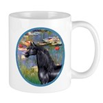 Lilies/Arabian horse (blk) Mug