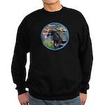 Lilies/Arabian horse (blk) Sweatshirt (dark)