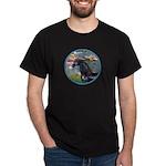 Lilies/Arabian horse (blk) Dark T-Shirt