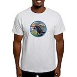 Lilies/Arabian horse (blk) Light T-Shirt