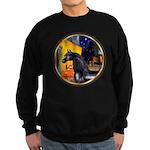 Cafe/Arabian horse (blk) Sweatshirt (dark)