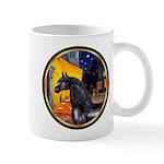 Cafe/Arabian horse (blk) Mug