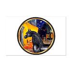 Cafe/Arabian horse (blk) Mini Poster Print