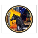Cafe/Arabian horse (blk) Small Poster