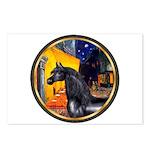Cafe/Arabian horse (blk) Postcards (Package of 8)