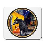 Cafe/Arabian horse (blk) Mousepad