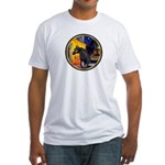 Cafe/Arabian horse (blk) Fitted T-Shirt