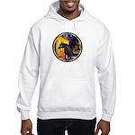 Cafe/Arabian horse (blk) Hooded Sweatshirt