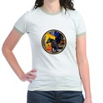 Cafe/Arabian horse (blk) Jr. Ringer T-Shirt