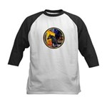 Cafe/Arabian horse (blk) Kids Baseball Jersey