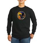 Cafe/Arabian horse (blk) Long Sleeve Dark T-Shirt