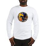 Cafe/Arabian horse (blk) Long Sleeve T-Shirt