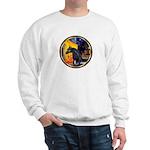Cafe/Arabian horse (blk) Sweatshirt
