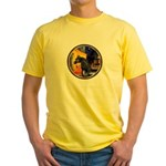 Cafe/Arabian horse (blk) Yellow T-Shirt