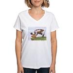 Jessica's Shearwater: Women's V-Neck T-Shirt