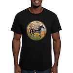 Spring/Arabian horse (blk) Men's Fitted T-Shirt (d