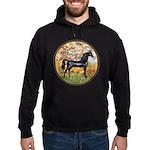 Spring/Arabian horse (blk) Hoodie (dark)