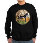 Spring/Arabian horse (blk) Sweatshirt (dark)