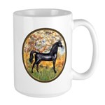 Spring/Arabian horse (blk) Large Mug