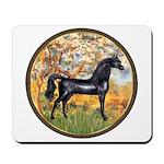 Spring/Arabian horse (blk) Mousepad