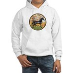 Spring/Arabian horse (blk) Hooded Sweatshirt