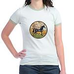 Spring/Arabian horse (blk) Jr. Ringer T-Shirt