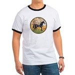 Spring/Arabian horse (blk) Ringer T
