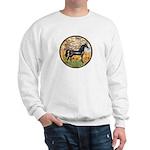 Spring/Arabian horse (blk) Sweatshirt