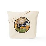 Spring/Arabian horse (blk) Tote Bag