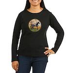 Spring/Arabian horse (blk) Women's Long Sleeve Dar