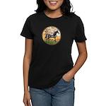 Spring/Arabian horse (blk) Women's Dark T-Shirt