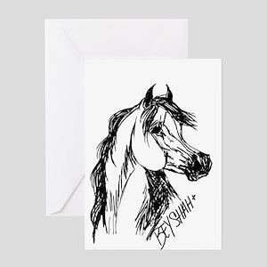 Arabian Stallion Bey Shah+ Greeting Card