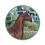 Bridge/Arabian horse (brn) Ornament (Round)