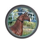 Bridge/Arabian horse (brn) Wall Clock