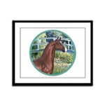 Bridge/Arabian horse (brn) Framed Panel Print