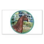 Bridge/Arabian horse (brn) Rectangle Sticker 10 p