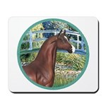Bridge/Arabian horse (brn) Mousepad