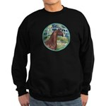 Bridge/Arabian horse (brn) Sweatshirt (dark)