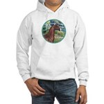 Bridge/Arabian horse (brn) Hooded Sweatshirt