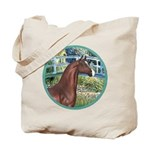 Bridge/Arabian horse (brn) Tote Bag