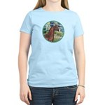 Bridge/Arabian horse (brn) Women's Light T-Shirt