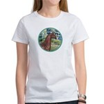 Bridge/Arabian horse (brn) Women's T-Shirt